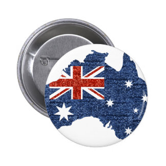 sequin australian flag 6 cm round badge
