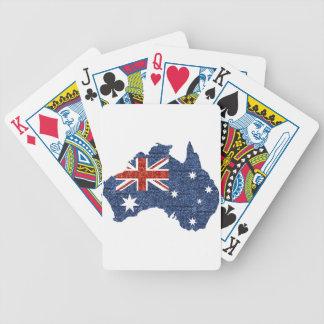 sequin australian flag poker deck