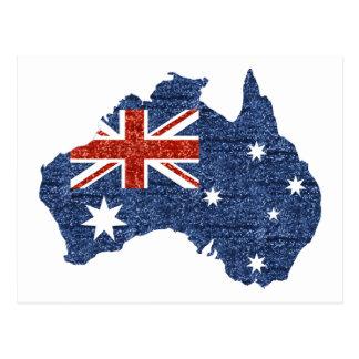 sequin australian flag postcard