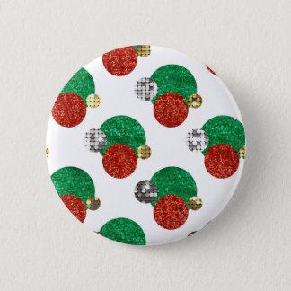 sequin christmas dots 6 cm round badge