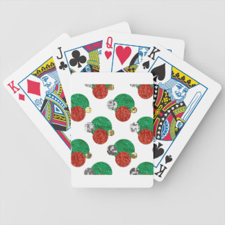 sequin christmas dots bicycle playing cards