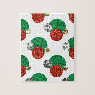 sequin christmas dots jigsaw puzzle