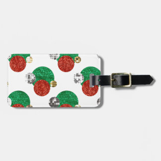 sequin christmas dots luggage tag