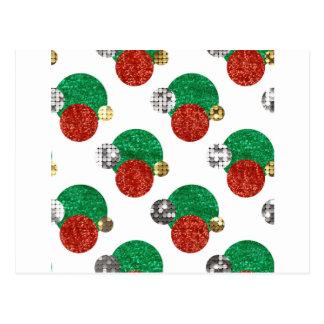 sequin christmas dots postcard