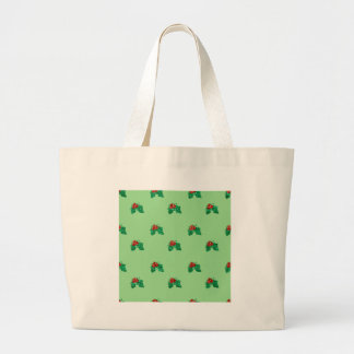 sequin christmas Holly Large Tote Bag