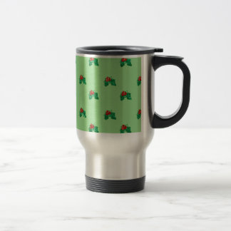 sequin christmas Holly Travel Mug