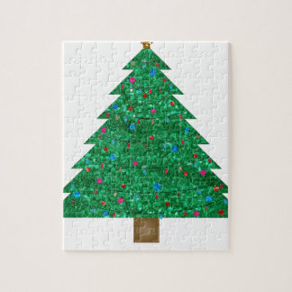 sequin christmas tree jigsaw puzzles