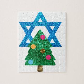 sequin christmukkah hanukkah puzzles