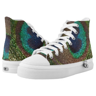 sequin design peacocks feather high tops