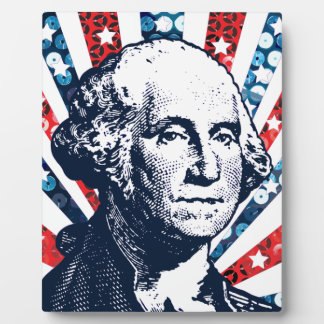 sequin george washington display plaques