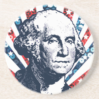 sequin george washington drink coasters