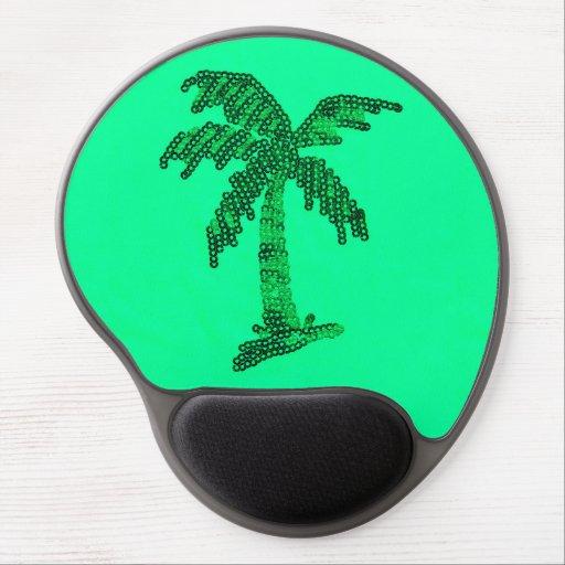 Sequin Grunge Palm Tree Image Gel Mouse Mats