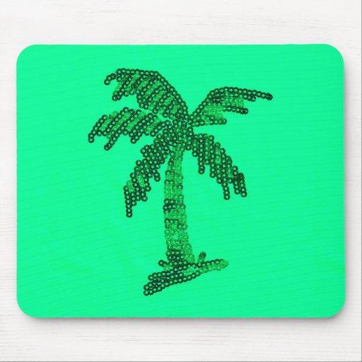 Sequin Grunge Palm Tree Image Mousepad