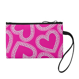 Sequin hearts coin purse