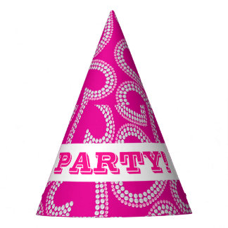 Sequin hearts party hat