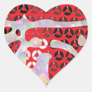 sequin hot sauce heart sticker