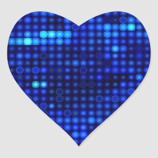 sequin in blue heart sticker
