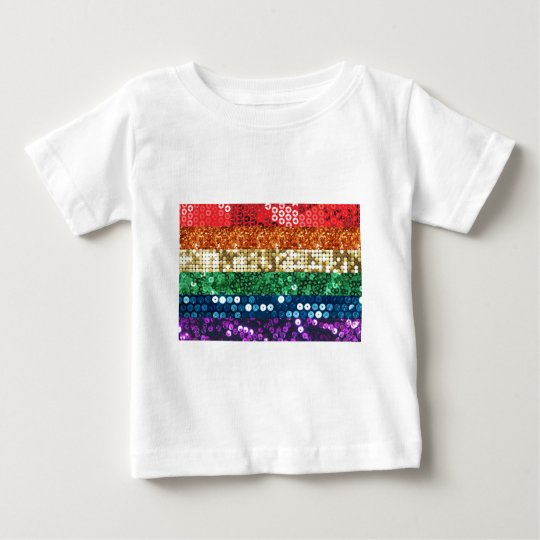 sequin pride flag baby T-Shirt