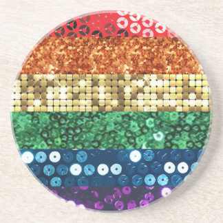 sequin pride flag coaster