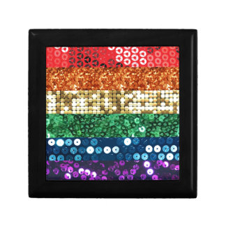 sequin pride flag gift box