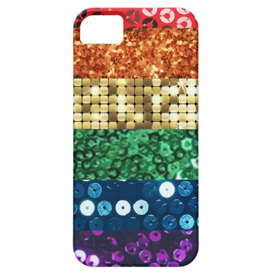 sequin pride flag iPhone 5 covers