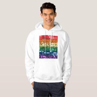 sequin pride flag mens hooded hoodie sweatshirt