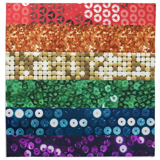 sequin pride flag napkin