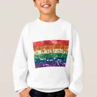 sequin pride flag sweatshirt