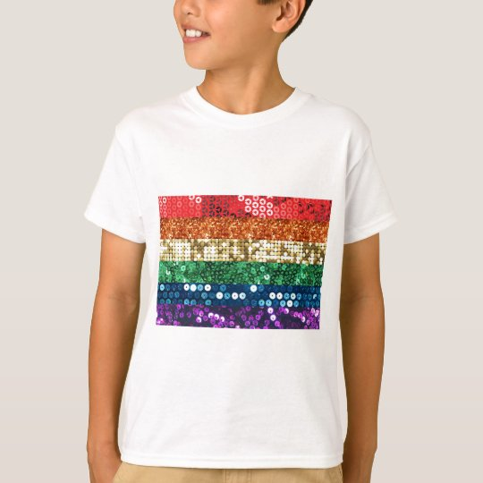 sequin pride flag T-Shirt