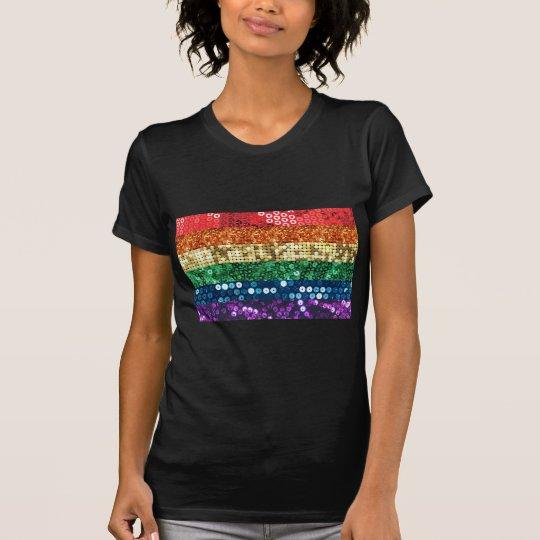 sequin pride flag T-Shirt