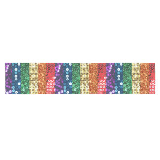 sequin pride flag tablecloth table runner