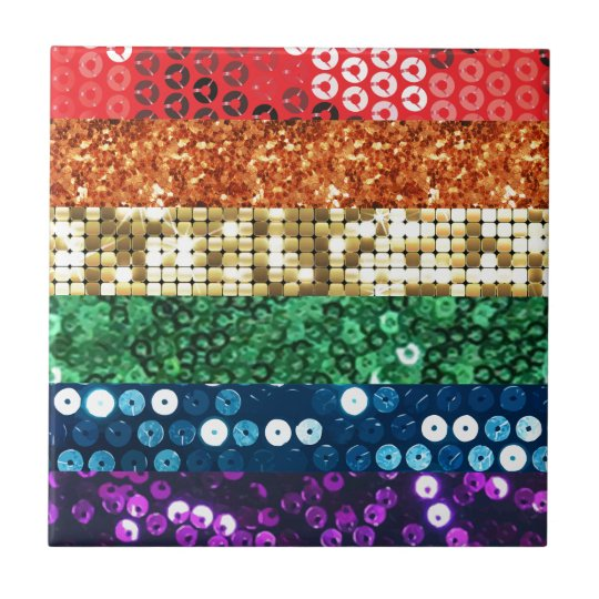 sequin pride flag tile