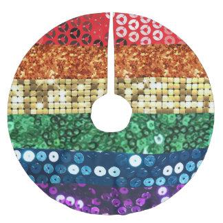 sequin pride flag xmas christmas tree skirt