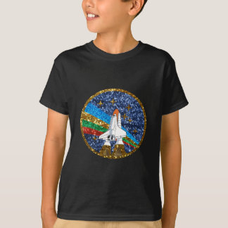 sequin space ship T-Shirt