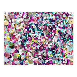 Sequin Sparkles Rainbow Postcard
