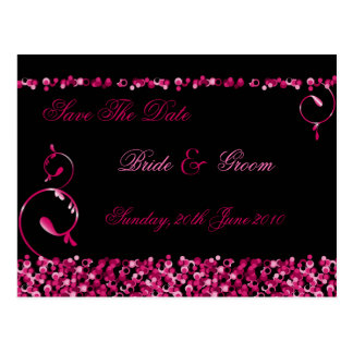 Sequinned Save The Date Postcard :: Fuschia