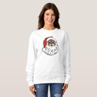 sequins black santa claus womens sweatshirt
