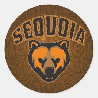 Sequoia Bear Face Logo Classic Round Sticker