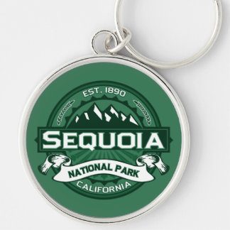 Sequoia Forest Silver-Colored Round Key Ring
