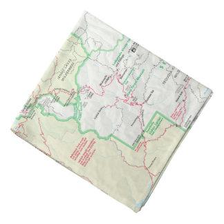 Sequoia/Kings Canyon map bandana