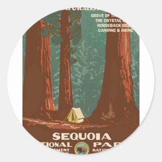 Sequoia National Park Classic Round Sticker