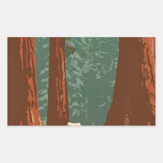 Sequoia National Park Rectangular Sticker