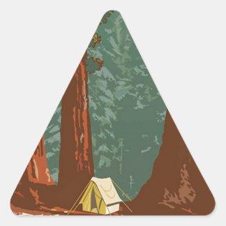 Sequoia National Park Triangle Sticker