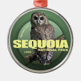 Sequoia NP (Spotted Owl) WT Metal Ornament