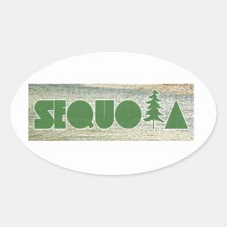 Sequoia Oval Sticker