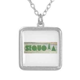 Sequoia Silver Plated Necklace