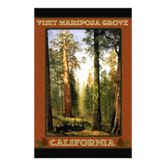 Sequoia Trees at Mariposa Grove Stationery