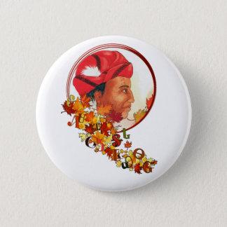 "Sequoyah & the Cherokee Syllabary ""Talking Leaves"" 6 Cm Round Badge"