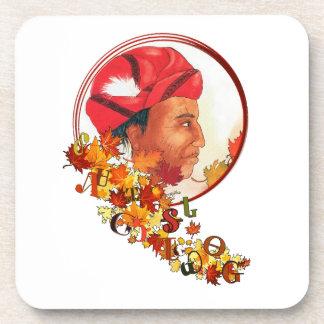 "Sequoyah & the Cherokee Syllabary ""Talking Leaves"" Coaster"