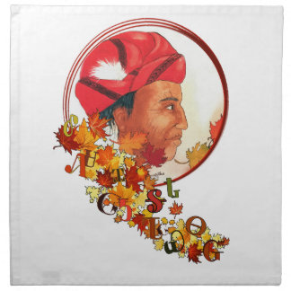 "Sequoyah & the Cherokee Syllabary ""Talking Leaves"" Napkin"